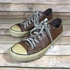 Converse All Star Brown Low Top Fashion Sneakers Mens 10.5 Leather Shoes Classic