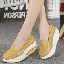 Женская обувь качели женские мокасины плоские платформы повседневные клинья высота увеличение