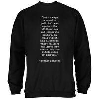 Election 2016 Bernie Sanders Quote Moral War Black Adult Sweatshirt