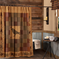 Heritage Farms Crow Primitive Patchwork Country Cottage Lined Shower Curtain