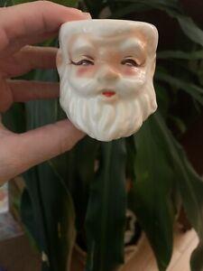 Vintage Kreiss Ceramic Santa Egg Cup Japan 1956 Mid Century Christmas