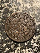 1917 Netherlands 1 Cent Lot#Q7907