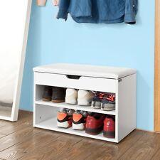 SoBuy® Banc de Rangement Armoire à chaussures+coussin,Meuble d'Entrée,FSR25-W FR