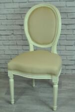 Cream and biscuit feature chair - dressing table chair