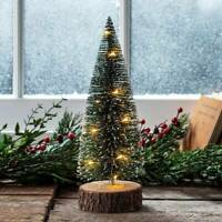 Mini Christmas Tree with LED Lights Ornaments Desk Table Decor Xmas -