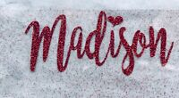 Custom Personalized Name  o Text Glitter Iron on