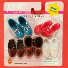 Barbie Little Extras KEN Cool Shoes Sandals Oxfords NEW on Card 5 Pair 1999  NEW