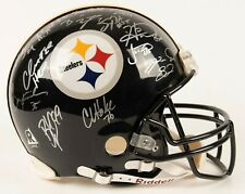 PITTSBURGH STEELERS AUTOGRAPHED SUPER BOWL XL HELMET WITH COA FREE SHIPPING
