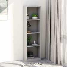 vidaXL 4-tier Book Cabinet Grey 40x24x142 Cm Chipboard