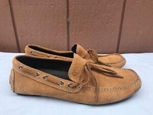 EUC Donald J. Pliner Men's Size US 8M Vijay2 Brown Suede Driving Moc Shoe A8