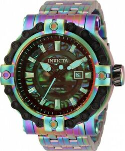 Invicta 54mm Excursion CHAIN Automatic TINTED Abalone Dial IRIDESCENT SS Watch
