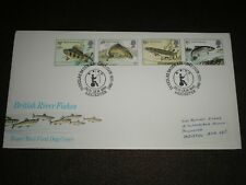 1983 GB Stamps BRITISH RIVER FISH First Day Cover DOUGLAS BADER ANGLING Cancels