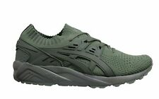 Asics Gel-Kayano Knit Green Textile Lace Up Mens Running Trainers H705N 8181