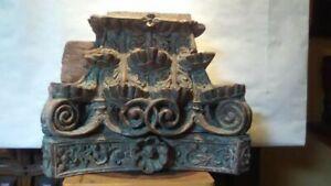 18th-19th c Continental hard wood column Capital fragment
