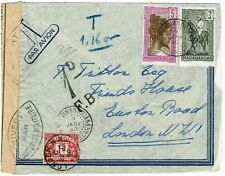 Great Britain 1940 incoming censored cover from MADAGASGAR, 1d postage due