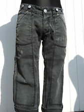 Superdry Men's Jeans Grey Trousers 3/4 Legs Shorts Size W28