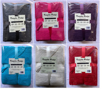 LUXURY 9 PIECE COTTON BATHROOM TOWELS BALE GIFT SET SOFT BATH HAND FACE TOWEL