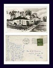 FLORIDA MIAMI CORAL LAKE TRAILER PARK REAL PHOTO 22 JUNE 1946 TO BEREA, OHIO