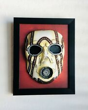 "Borderlands Psycho Bandit Hand Painted Wood Framed Resin Mask 7"" TALL - 2K"