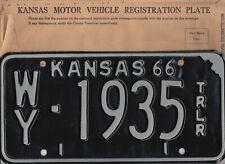"KANSAS (birth year/anniversary/etc.) ***MINT w/ENVELOPE ""1935"" license plate"