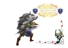 5 enveloppes pour cartes invitation anniversaire ZELDA    n°15