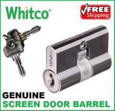 Brand new Whitco Screen Door Lock Cylinder Barrel Replacement 2 Keys KA or KD