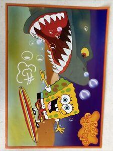 "spongebob poster 16x11"" Colorful Kids Room  F7"