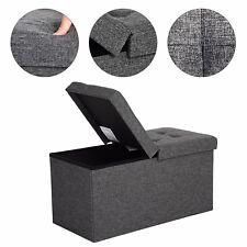 80 L Folding Storage Ottoman Shoe Bench Flipping Lid Load Capacity of 300 Kg 76