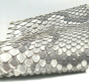 Aged Python Snake Skin Hide Leather Snakeskin Belly Piece Natural Matte ETA 1wk
