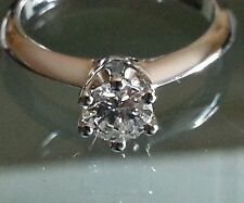 Anillo Solitario Diamante Natural Brillante Oro 18 ct compromiso boda