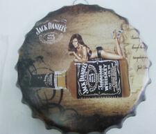 Jack Daniels Wisky 40cm Kronkorken geprägt Reklameschild Werbeschild Blech Jacky