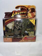 Rare 2008 Indiana Jones Last Crusade German Soldier with Motorcycle Moc Mint