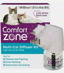 1 Diffuser Plus 1 Refill Comfort Zone Multi-Cat Calming Kit (Starter Pack) NEW