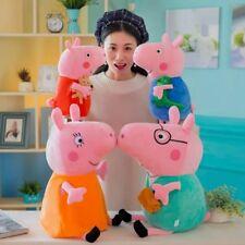 "4Pcs Peppa Pig Family Stuffed Animal Toy 12"" DADDY MOMMY 8"" Children Plush Set"