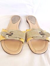 Fendi Metallic And Yellow Sandals 38
