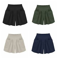 Elegant Summer Beach Casual Shorts Women High Waist Plus Size Loose Hot Pants