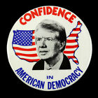 """1976-80 Jimmy Carter Confidence In American Democracy 3.5"""" Button"""