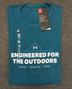 Under Armour * UA Engineered for Outdoors T Shirt Heatgear Blue for Men