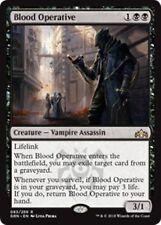 "BLOOD OPERATIVE Guilds of Ravnica MTG Black Creature �€"" Vampire Assassin Rare"