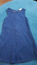 Girl 5-6 6 Years Denim Look Soft Sleeveless Dress From Next