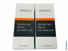 🔥Lot Of 2 • Yeouth • Vitamin C & E Serum • Hyaluronic Acid • 1 fl oz (30 ml) •