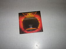 AEROSMITH CD SINGLE FRANCE I DON'T WANT TO MISS A THING