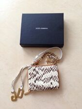 Dolce & Gabbana Snake Skin New With Box Small Purse Lipstick Bag Great Gift