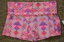 Aeropostale Fold-over Waist Pink Purple Yoga Shorts size S Small