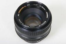 Minolta MD Rokkor-X PF 50mm, f/1.7 Lens