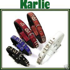 "KARLIE Halsband Art-LEDER terrakotta 50cm/22mm ""I love you"" NEU L (67283)"