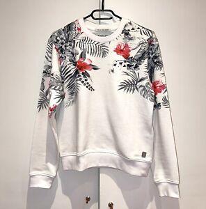 Replay Sweatshirt, weiß mit Blüten, Gr. XS