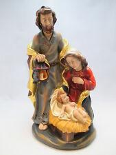 Wunderschöne Holzschnitzerei bemalt Heilige Krippe 28cm groß Josef Maria Jesus