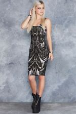 Black Milk Clothing Next World Machine Midi Dress Toastie S Small Sharkie PC