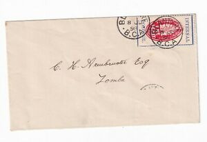 BRITISH CENTRAL AFRICA Scott 59d 1898 1d cheque stamp ON COVER!